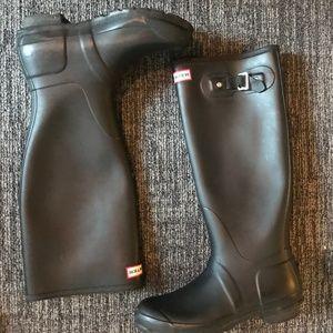 Women's tall black hunter boots